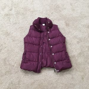 J crew down feather button & zip 1 pocket snaps